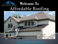 Affordable Roofing Services Rossville, GA