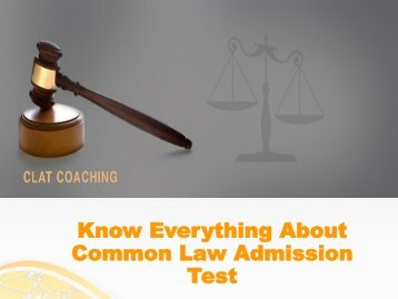 Know Everything About Common Law Admission Test