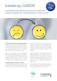 b.better by CURSOR - Beschwerdemanagement