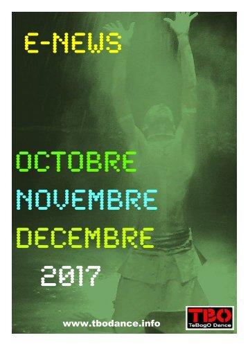 Agenda des activités Tebby Ramasike Octobre à Décembre 2017