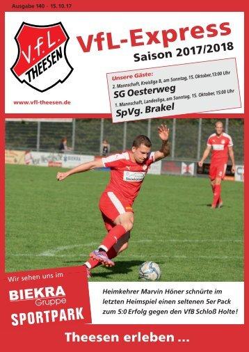 A4 Saisonheft Theesen!  17-18- Ausgabe 140 Brakel
