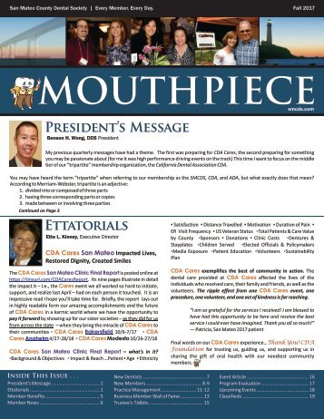 2017 Fall SMCDS Mouthpiece Newsletter