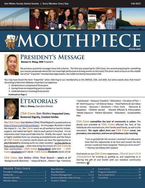 2017 Fall SMCDS Mouthpiece Newsletter