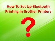 How to Set Up Bluetooth Printing in Brother Printers?