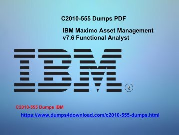 IBM C2010-555 Exam Preparation Tips - Dumps4download.com