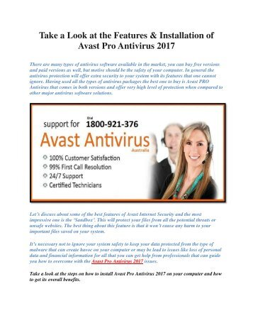 Take a Look at the Features & Installation of Avast Pro Antivirus 2017