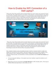 How to Enable the WiFi Connection of a Dell Laptop?