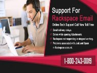 Rackspace Email Support Phone Number 1-800-243-0019 for Help