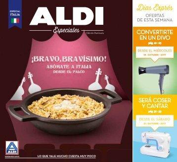 Revista ofertas ALDI hasta el 22 de Octubre 2017