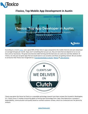 iTexico - Top Mobile App Development in Austin