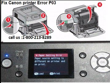 How To Fix Canon printer Error P03