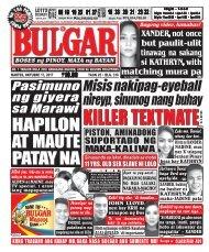 OCTOBER 17, 2017 BULGAR: BOSES NG PINOY, MATA NG BAYAN