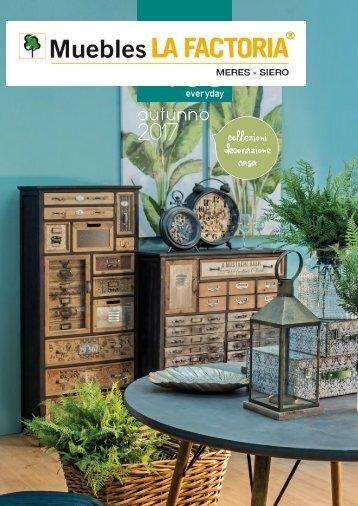 Revista Decoración y muebles de  complementos de Muebles La Factoria