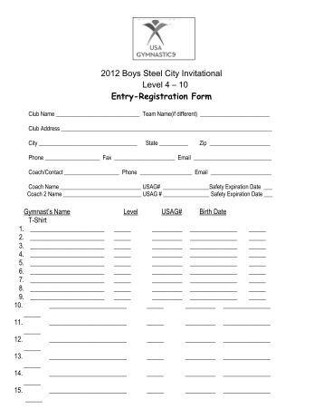 GSA Coaching Leaflet and Registration Form 2012