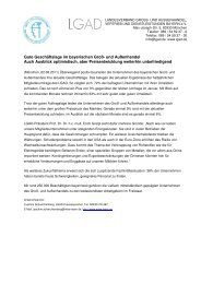Konjunkturumfrage LGAD Sommer 2011 - Landesverband Groß