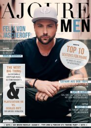 AJOURE´ Men Magazin November 2017