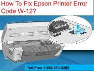 How To Fix Epson Printer Error Code W-12