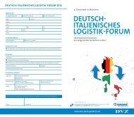 DEUTSCH ITALIENISCHES LOGISTIK FORUM