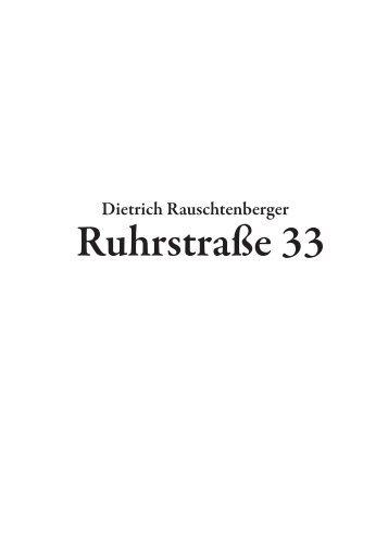 Rauschtenberger-Ruhrstrasse 33. Heimatroman