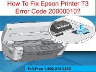 How To Fix Epson Printer T3 Error Code 20000010