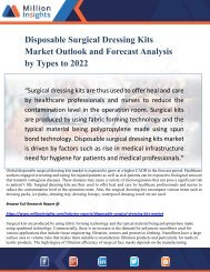Disposable Surgical Dressing Kits Market Outlook and Forecast Analysis by Types to 2022
