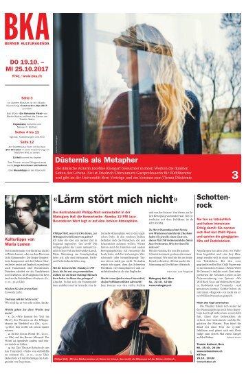 Berner Kulturagenda 2017 N° 41