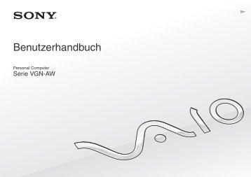 Sony VGN-AW4XRH - VGN-AW4XRH Mode d'emploi Allemand