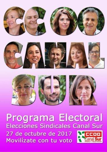 Propuestas de CCOO Canal Sur para las elecciones sindicales de 2017