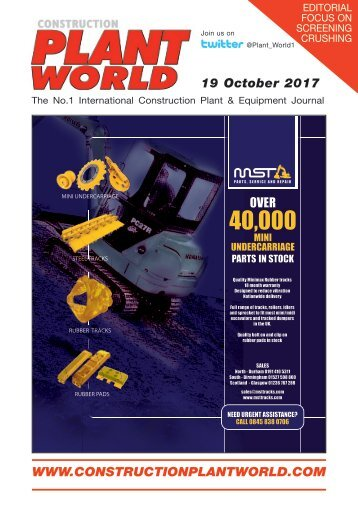 Construction Plant World 19th October 2017