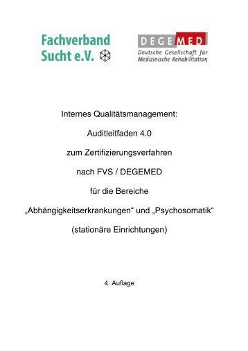 """und """"Psychosomatik"""" nach FVS/DEGEMED beteiligen"""
