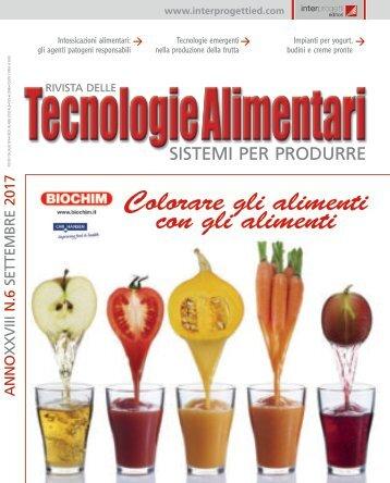Tecnologie Alimentari 6 Settembre 2017