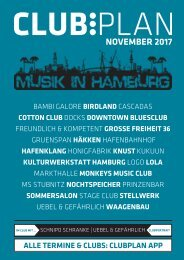 Clubplan Hamburg - November 2017