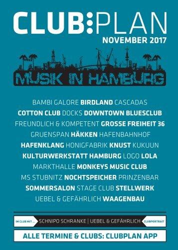 Clubplan Hamburg - November 2017