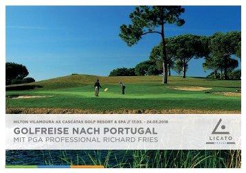 Golfreise Hilton Vilamoura mit PGA Professional Richard Fries