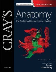 Gray's Anatomy The Anatomical Basis of Clinical Practice 41 Ed