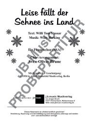 Leise fällt der Schnee ins Land (für Frauenchor SSA)