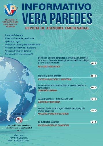 Revista Mensual Agosto - Agenda