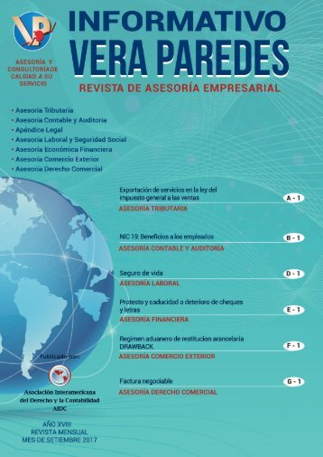 Revista Mensual Setiembre 2017
