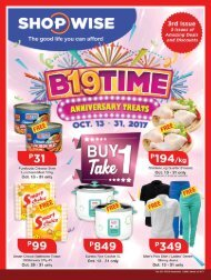 SHOPWISE GROCERY CATALOG ends October 31, 2017