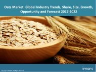Global Oats Market Share, Size, Trends and Forecast 2017-2022