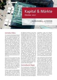 Kapital & Märkte: Ausgabe Oktober 2017