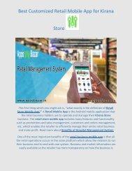 Best Customized Retail Mobile App for Kirana Store