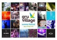 GruVillage 2018 - presentazione sponsor