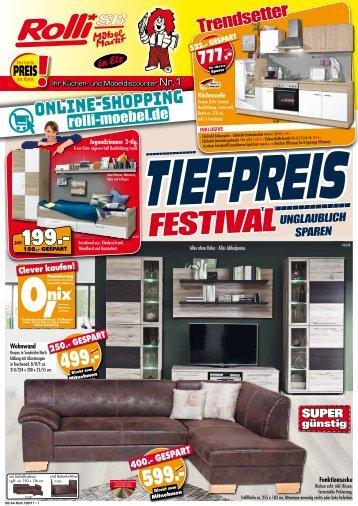 Tiefpreis-Festival: unglaublich sparen bei Rolli SB Möbelmarkt in 65604 Elz bei Limburg