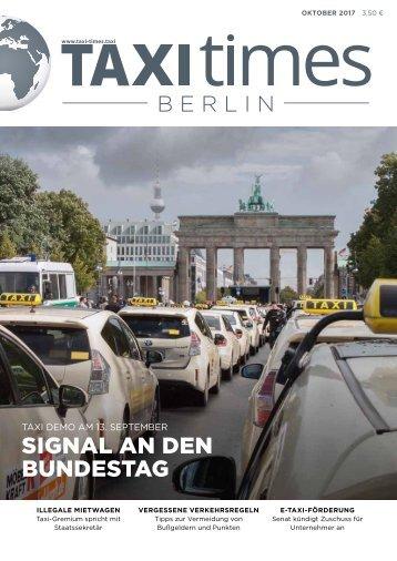 Taxi Times Berlin - Oktober 2017