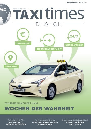 Taxi Times DACH - September 2017