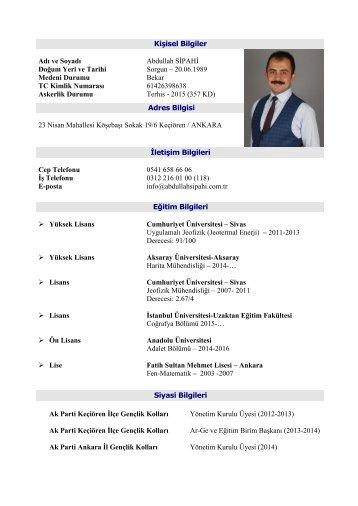 Siyasi CV