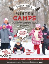 Dovercourt Holiday camps Dec. 2017
