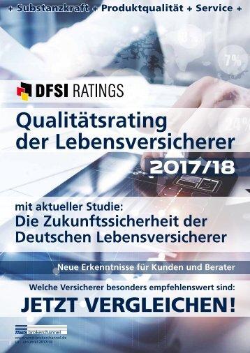 DFSI-Studie: Qualitätsrating der Lebensversicherer 2017/18