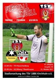 22.10.2017 Stadionzeitung -  SG Silberg / TSV Rauschenberg